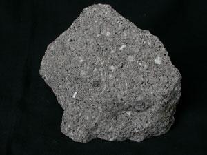 * 黑雲母角閃石安山岩標本照片* 智財權:國立自然科學博物館