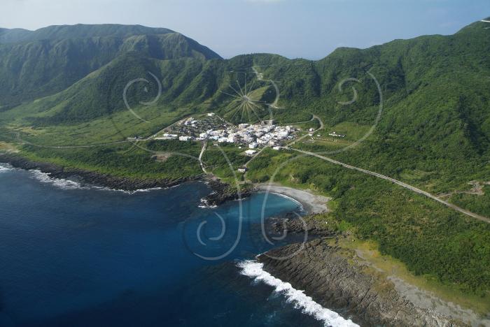 主题说明:台东县兰屿乡海岸地貌空照图